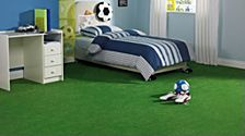 Artificial grass football pitch bedroom
