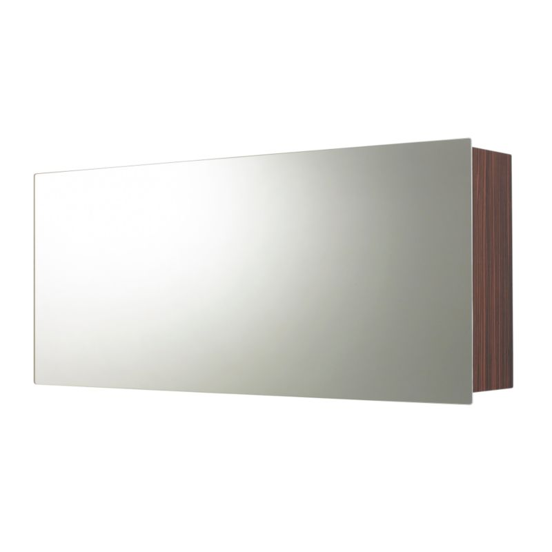 Zebrano Mirror Wall Cabinet (H)450 x (W)1050 x (L)185mm