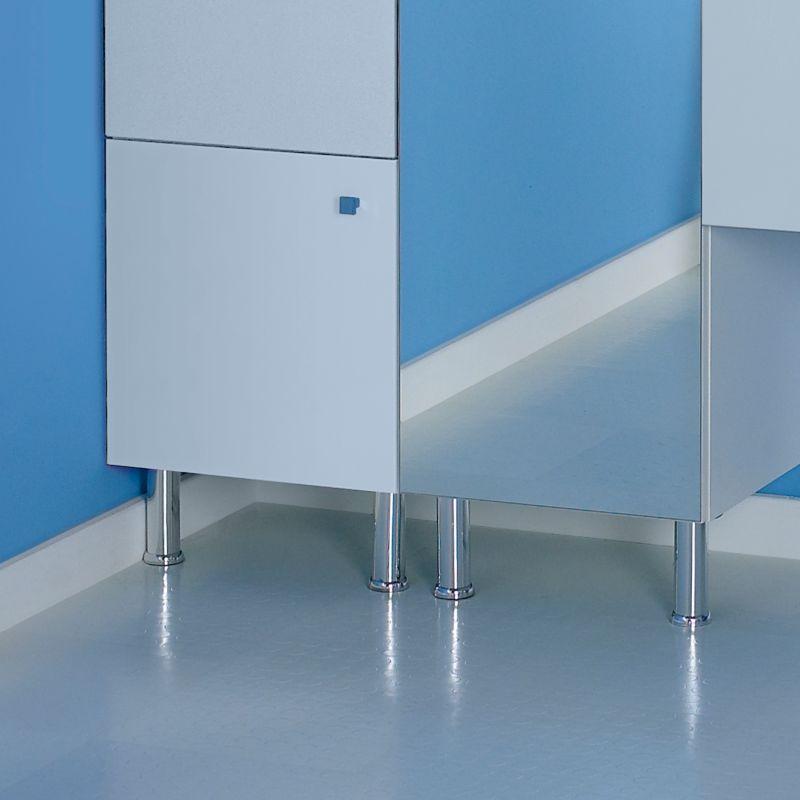 Contemporary Concept 38 Adjustable Legs (Pair) Chrome Effect