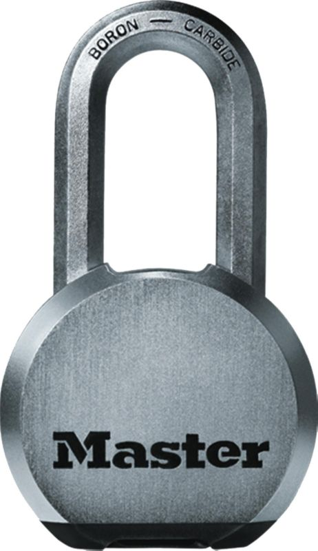 Master Lock Excel Round Body Padlock With Octagonal Shackle M830DLH Body Width 59mm