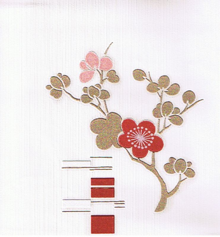 Bonsai Wallcovering Beige/Red/Cream