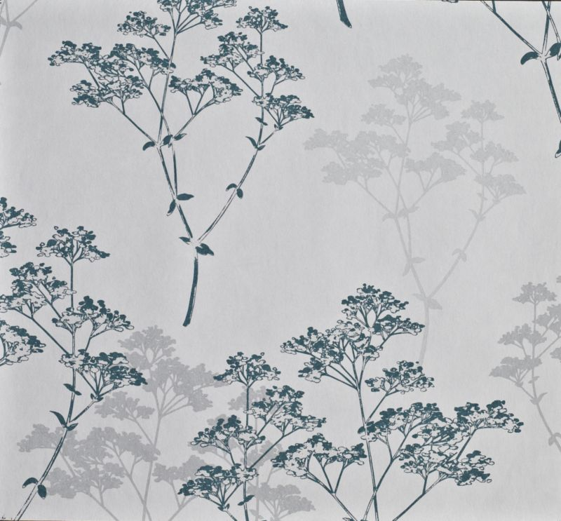 Spray Teal Wallcovering 10m 1707-29