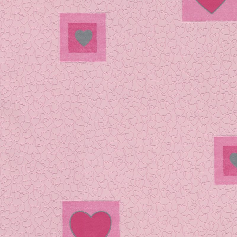 A.S. Creation Hearts Motif Wallcovering - Pink
