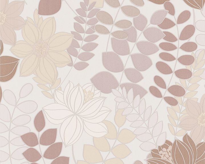 Tropical Flowers Wallcovering