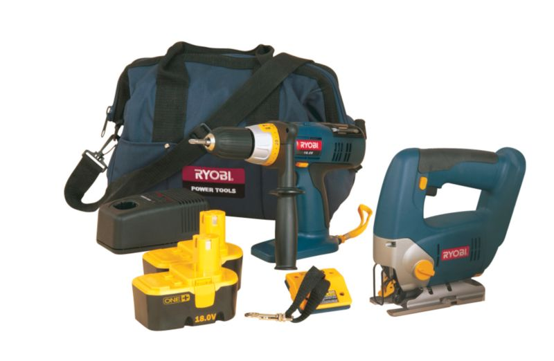 2 Piece Kit Combi Drill and Jig Saw CCK-18/2-003 18V