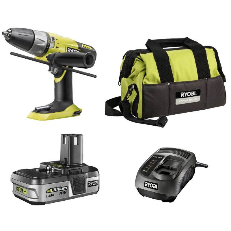 Ryobi One Plus Li-ion 18V Starter Kit Green