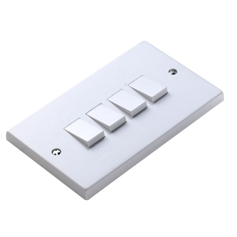 Marbo Light switch Quad 6Ax 2 Way