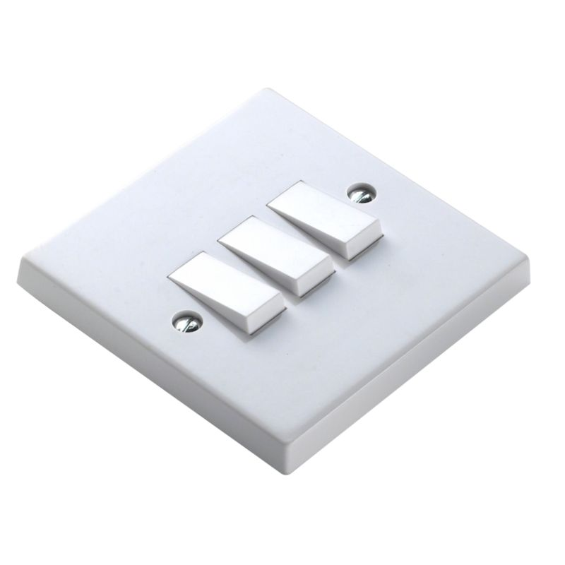 Marbo Light switch Triple 2 Way 6Ax