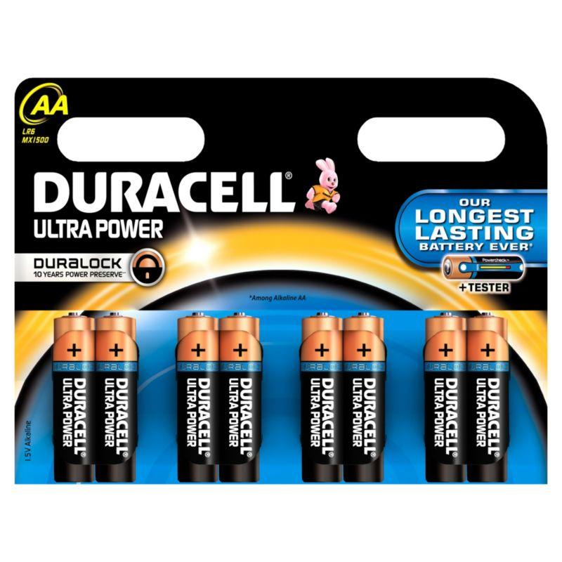 Duracell Ultra AA Batteries 8 Pack