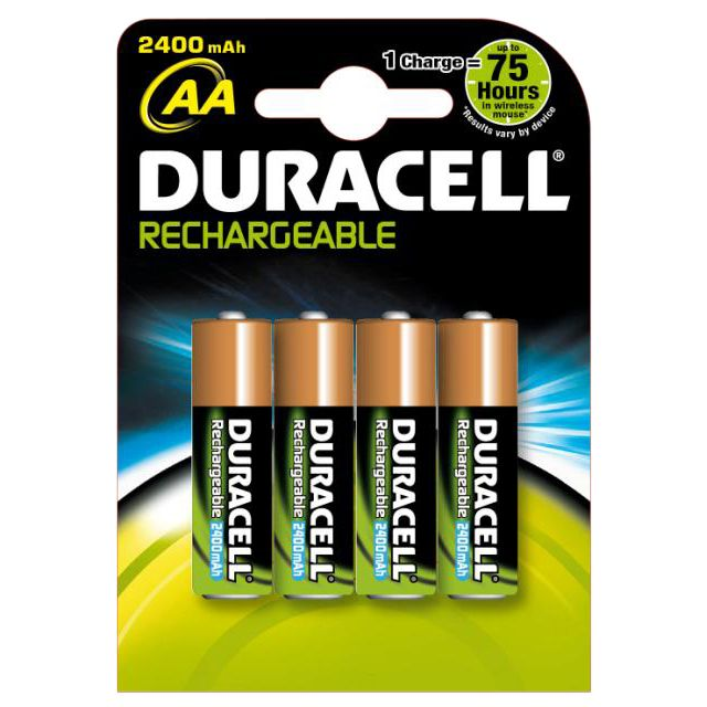 Duracell Supreme AA Rechargeable Batteries 4 Pack