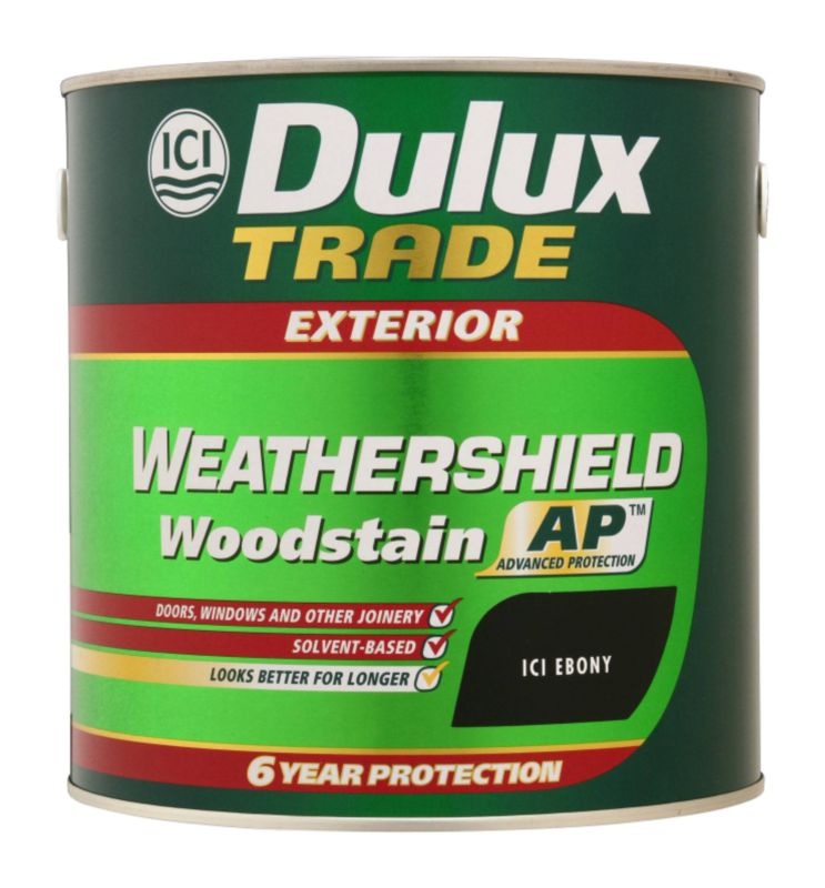 Dulux Trade Weathershield Woodstain Application A106011308A Ebony 2.5L