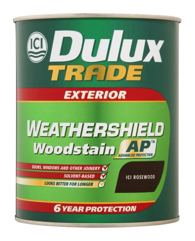 Trade Weathershield Woodstain Application A106011207A Rosewood 1L