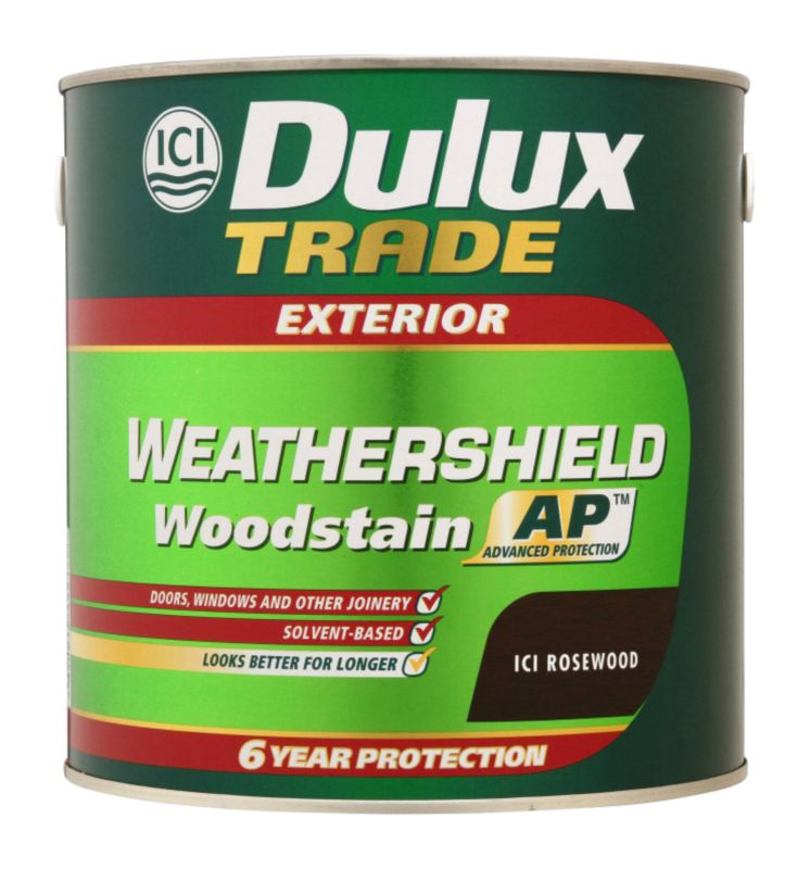 Trade Weathershield Woodstain Application A106011209A Rosewood 2.5L