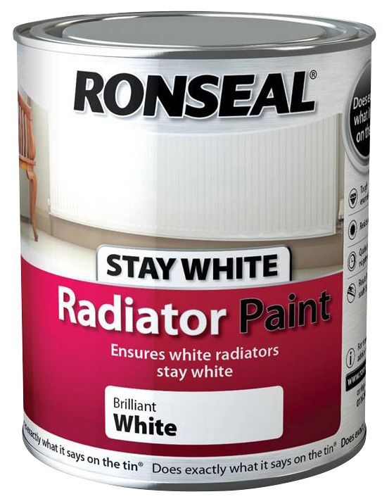 Ronseal Stay Radiator Paint Gloss White 750ml