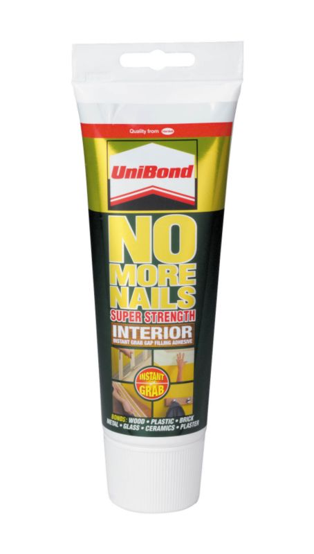 UniBond No More Nails Interior Tube - Super Strength Instant Grab Gap Filling Adhesive 300ml