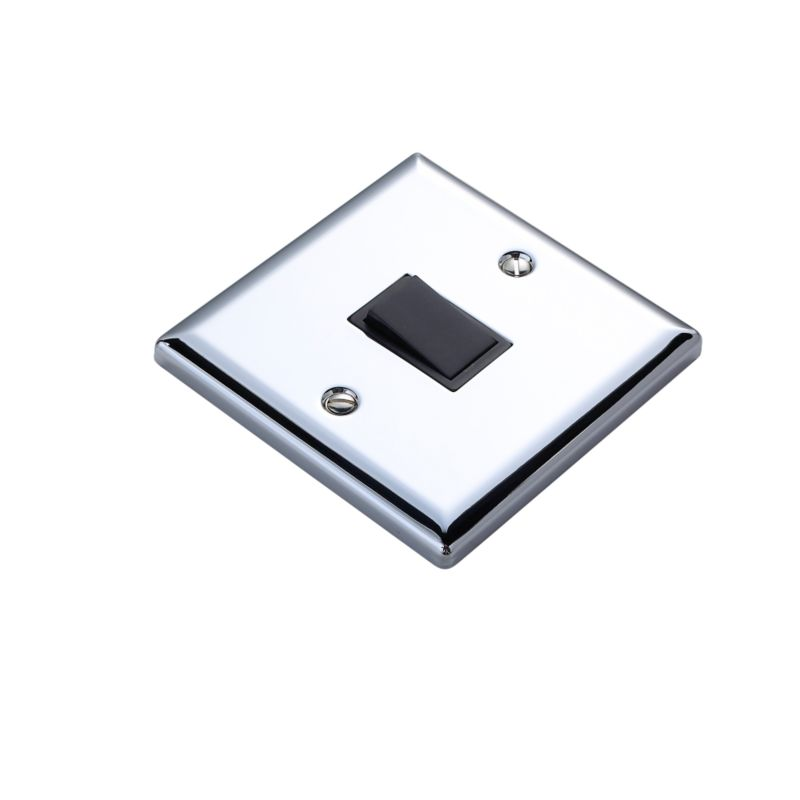 Volex Light switch Intermediate 1AX Blk Int