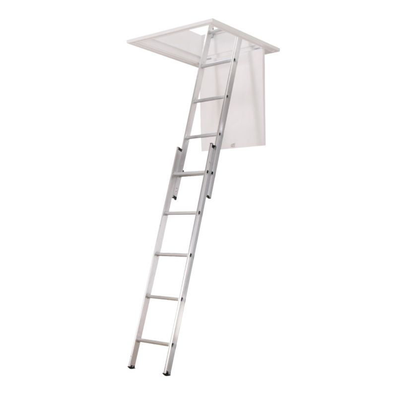 Abru 2-Section Loft Ladder, (H)163 x (W)30.5cm