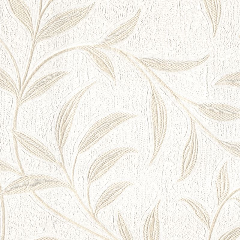 Lenska Leaf Wallcovering - Ivory