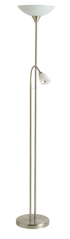 Carpio Floor Lamp Brushed Chrome Finish