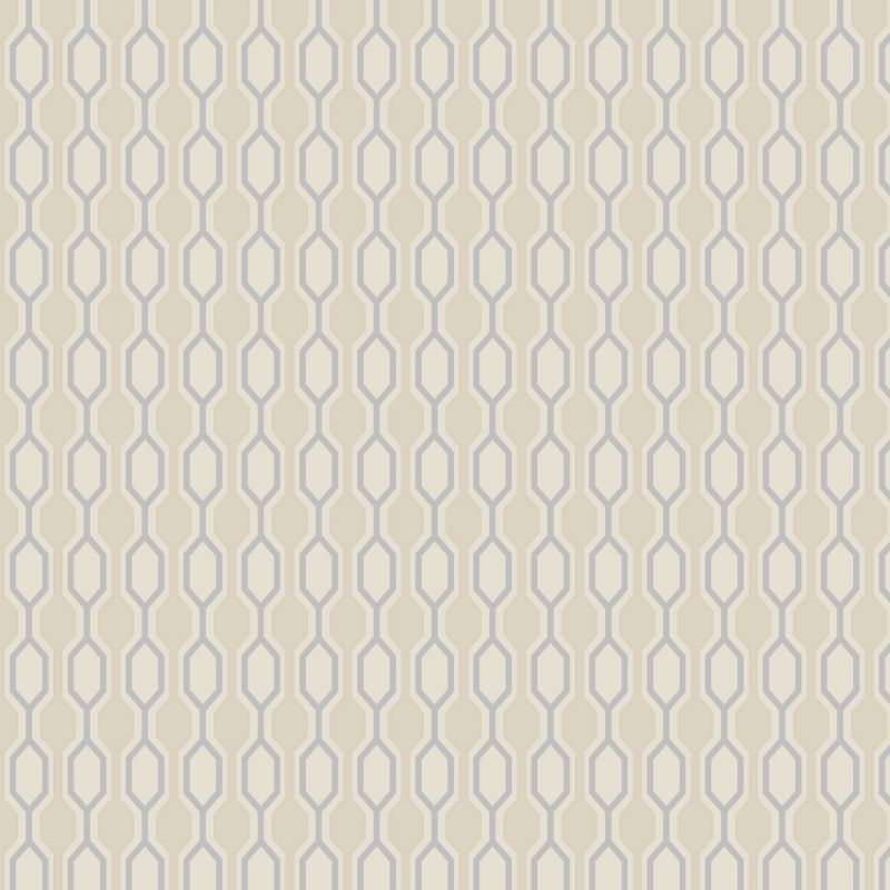 Kelly Hoppen Hicks Wallcovering Taupe/Silver