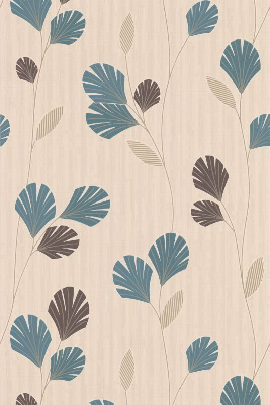 Sarah Wallcovering Teal 10m
