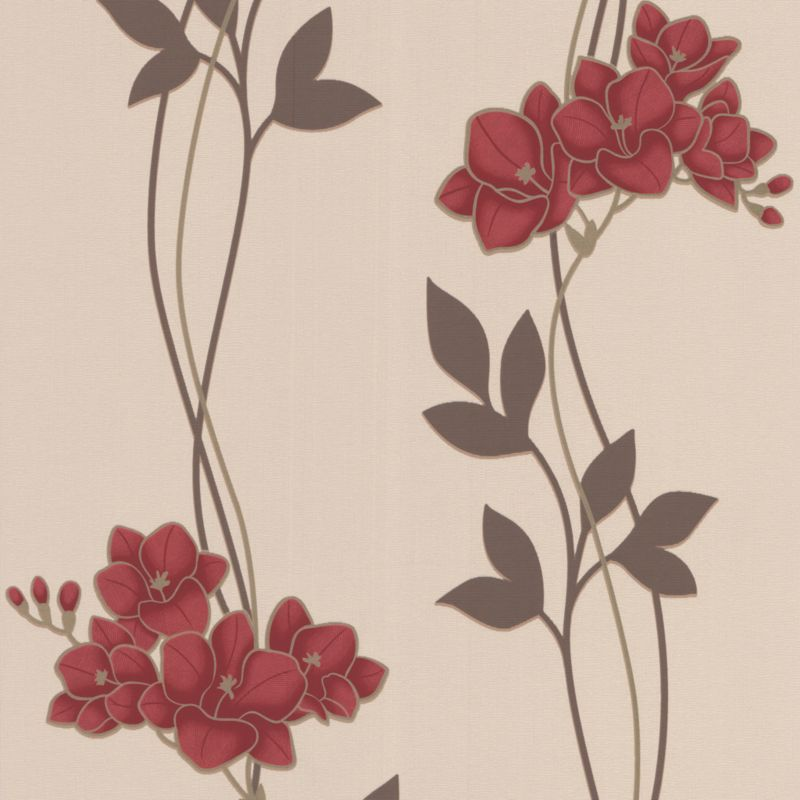 Serene Wallcovering Red 10m