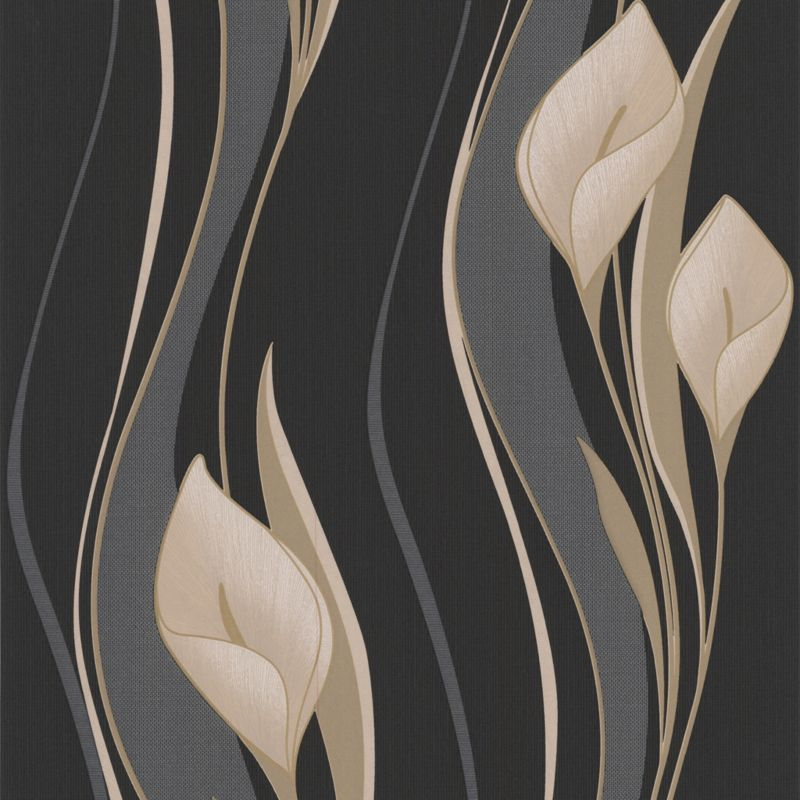 Peace Wallcovering Black 10m