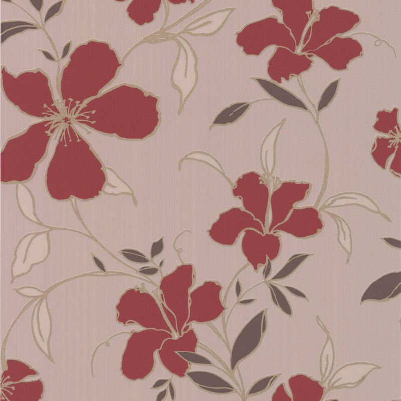 Rapture Wallcovering Red 10m