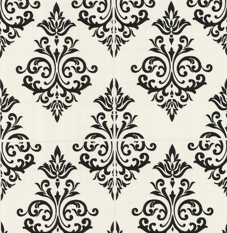Contour Pallade Wallcovering Black and White product image