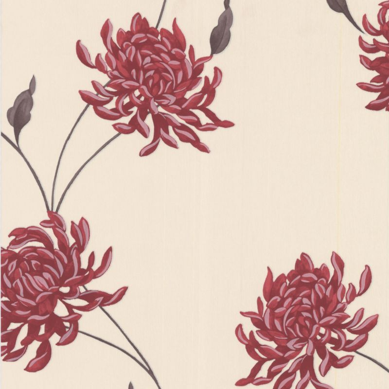 Super Fresco Eve Wallcovering Red/Beige 10m 19871