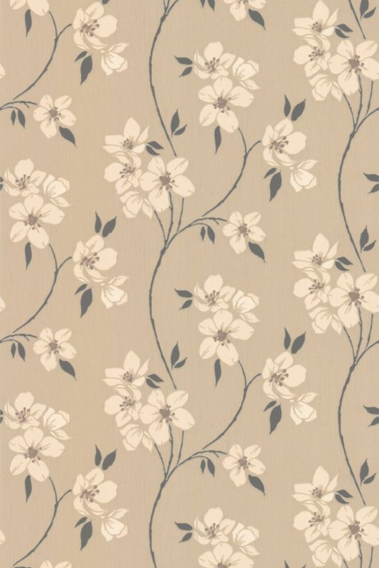 Mia Wallcovering Taupe 10m