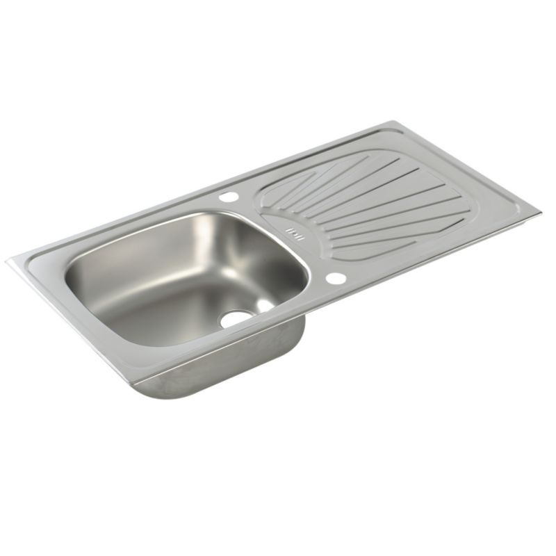 Utility Inset Space Saver Reversible 1.0 Bowl Stainless Steel