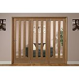Save on this Saxton 3 Lite Oak Veneer Frosted Glass Interior Folding Door Right Hand
