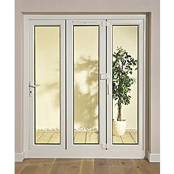 Glazed white pvcu external patio door frame set h for 6 ft french patio doors
