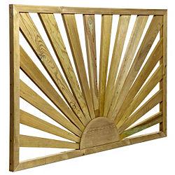 Tanalised Timber Sunburst Trellis Panel H 762mm W 1 13m