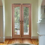 Save on this 5ft Freedom Arch French Door White Oak Veneer (H)2090mm x (W)1490 x (D)820mm Gold Effect Handles