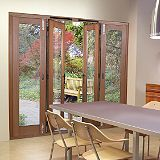 Save on this 6ft Freedom Folding French Door Right Hand Fir Veneer (H)2090mm x (W)1790 x (D)820mm Gold Effect Handles