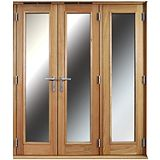 Save on this 6ft Folding French Door Left Hand White Oak Veneer With Satin Chrome Hardware 2090x1790mm