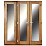 Save on this 6ft Folding French Door Right Hand White Oak Veneer With Satin Chrome Hardware 2090x1790mm