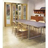 Save on this 8ft Folding French Door White Oak Veneer With Satin Chrome Hardware 2090x2390mm