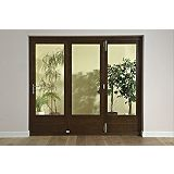 Save on this B&Q 8ft Dark Oak Tri-Fold Left Hand Folding Exterior Door 2090x2390mm