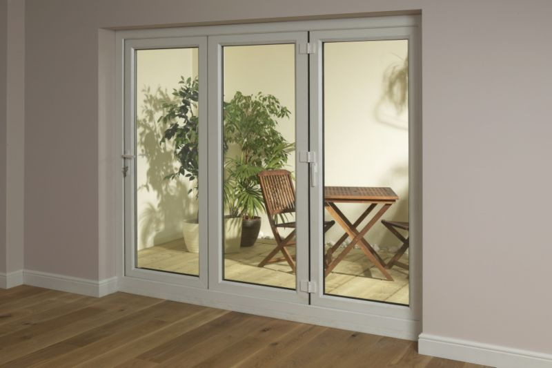B&Q 6ft Tri-Fold Right Hand Folding Exterior Door White 2090x1790mm