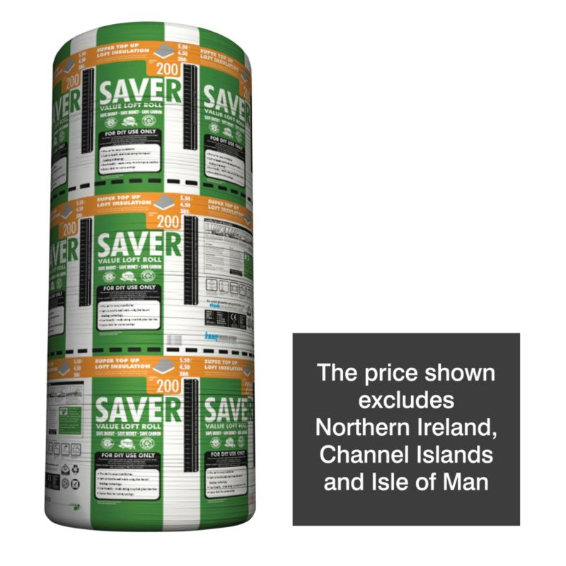 Knauf Saver Value Triple Loft Insulation 200mm