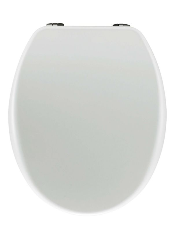 Universal Moulded Wood Toilet Seat White