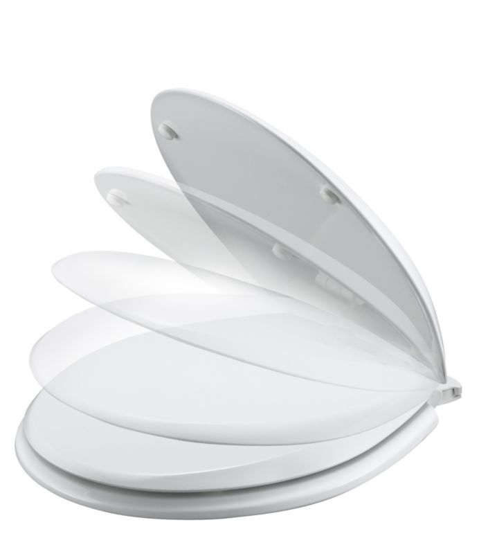 Boston Soft Close Lift Off Toilet Seat White