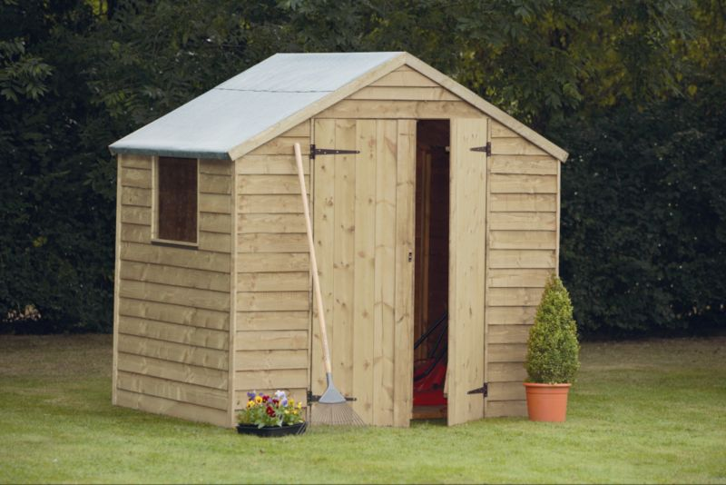Overlap Apex Shed With Embly B Q