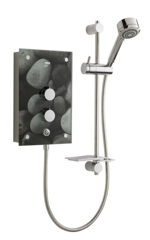 Azora 9.8kW Electric Shower Grey Stones