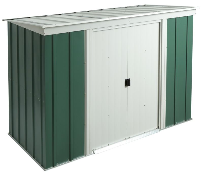 Shedme garden storage shed b q for Plastic pent shed