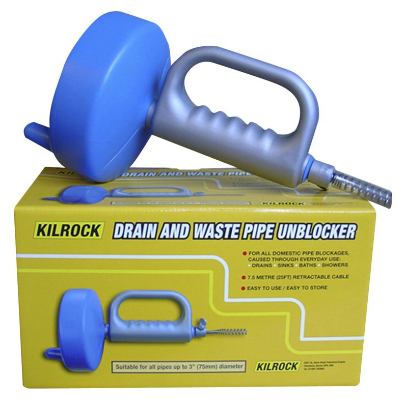 Kilrock Drain and Waste Pipe Unblocker 7.5m Wire