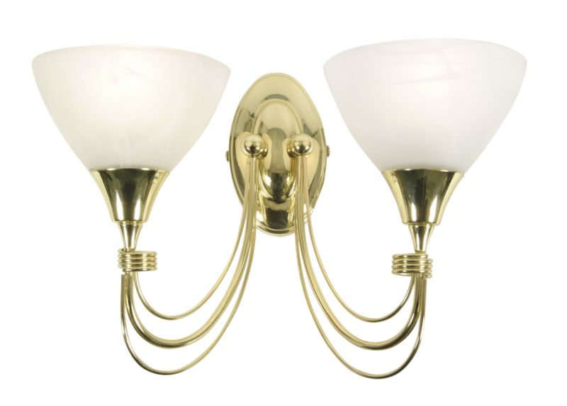 Wall Light Fitting Instructions : Alfaro Wall Light 7346 Brass Effect 60w - review, compare prices, buy online